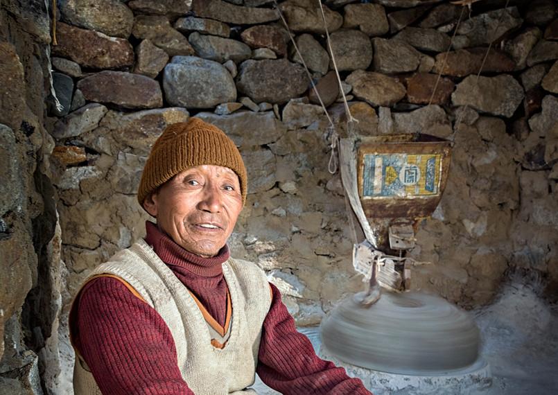 Ladakhi flour miller