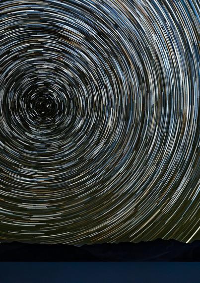 Star trails, Pangong Lake