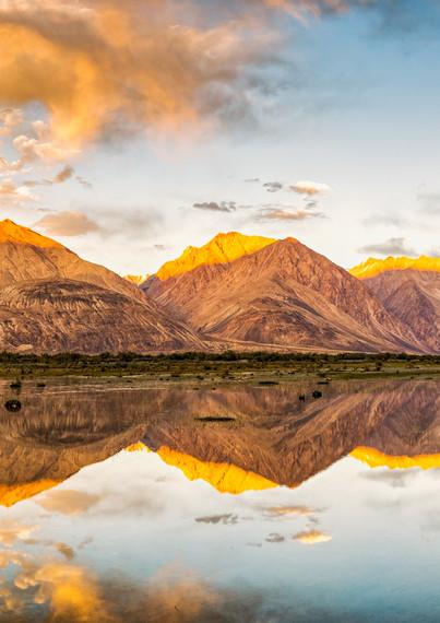 Nubra sunset reflections