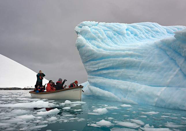 Sloopy and iceberg, Trinity Island