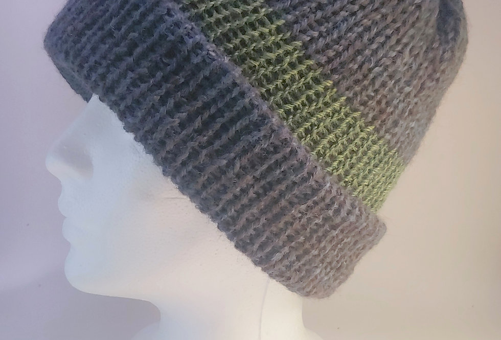 Handmade Reversible Knit Watch Cap