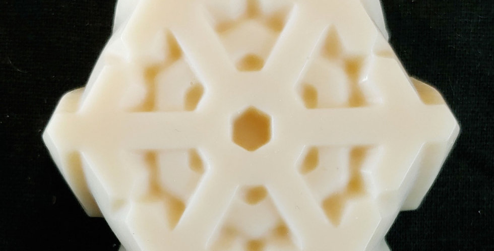 Handmade Woodsman Goat Milk Soap-Lg Snowflake
