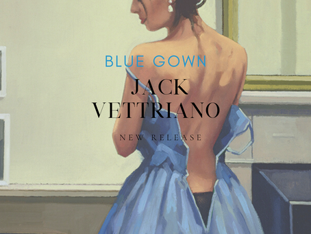Jack Vettriano new release Blue Gown.