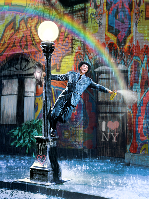DIRTY HANS - Spraying in the Rain Limited Edition Fine Art on paper