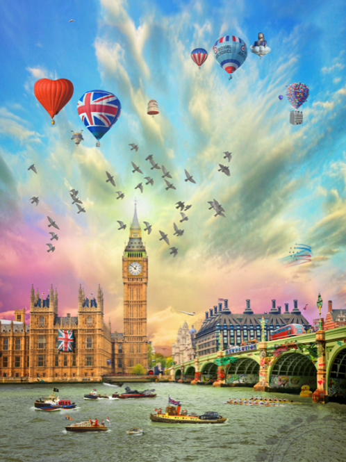 DIRTY HANS - London Celebrations Limited Edition Fine Art on paper