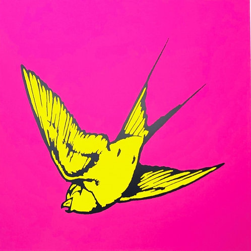 DAN BALDWIN - Love and Light - Pink and Yellow - Limited Edition Fine Art