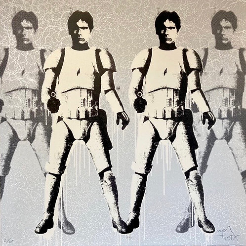RYCA-Han Trooper Double Variant signed edition.Framed