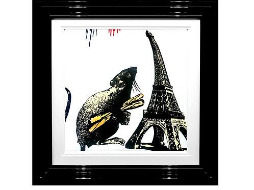 """Blek Le Rat -""""Rat with Baguettes""""  Original"""