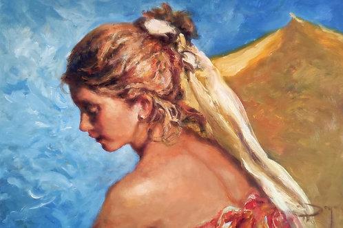 Royo Azul y oro  Original painting.