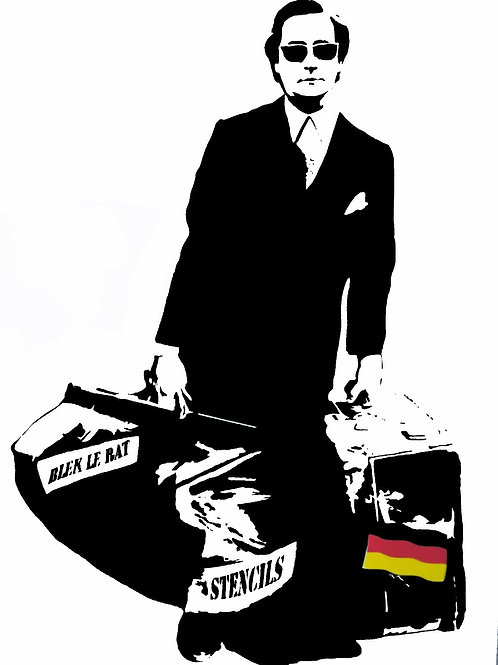 BLEK LE RAT - The Man Who Walks Through The Walls - Limited Edition Fine Art