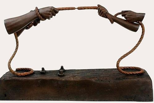 Lorenzo Quinn Sculpture-Tension