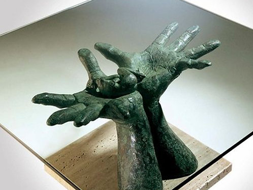 Lorenzo Quinn Sculpture-Serenity Table Sculpture