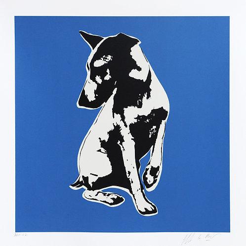 BLEK LE RAT - His Master's Voiceless (blue) - Limited Edition Fine Art