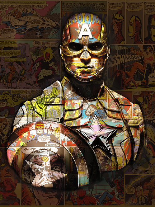 DIRTY HANS - Captain America Limited Edition Fine Art