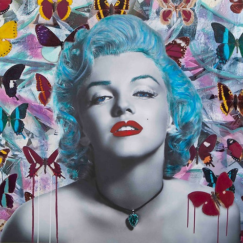 CHLOE ROX - Marilyn The Beauty Within Blue - Limited Edition Fine Art
