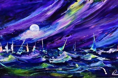"Rozanne Bell -""Nautica Aurora nights"" Original"