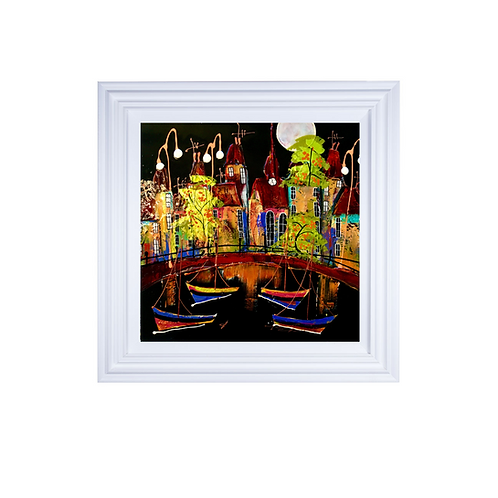 """Rozanne Bell -""""Harbour nights 1"""" Original"""