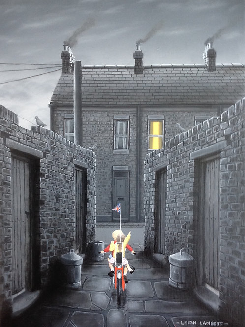 "Leigh Lambert- ""A Back a home""  -Original oil on board 2015"