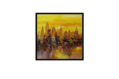 Wilfred Lang New York Skyline Tryptich