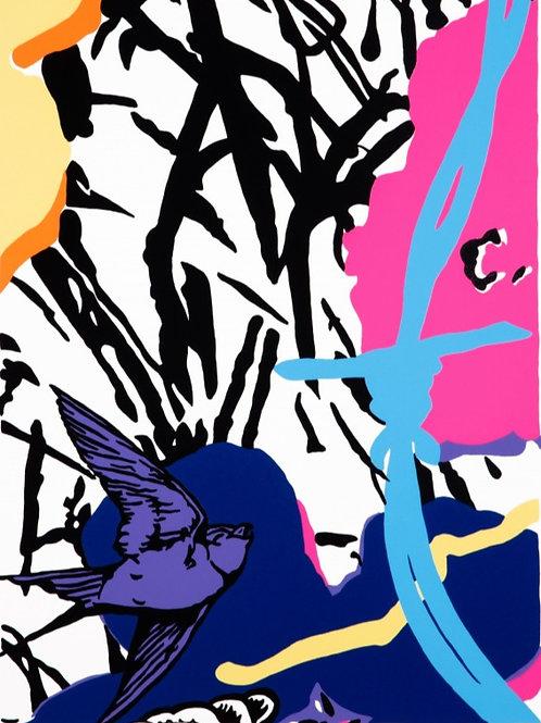 DAN BALDWIN - Utopia (Blue)  - Limited Edition Fine Art