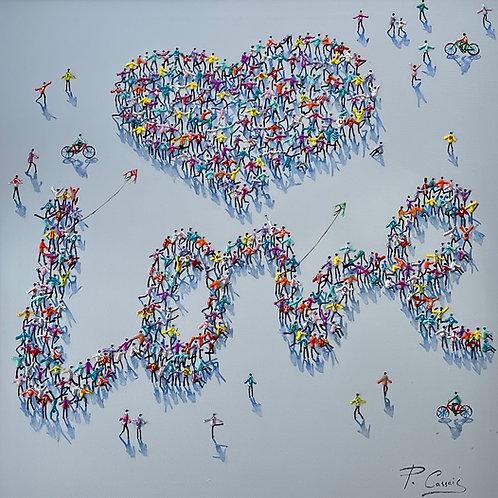 """Paola Cassais -""""It must be love, love, love."""" Original"""