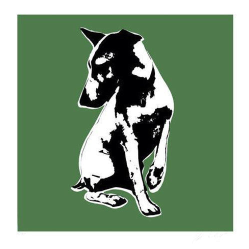 BLEK LE RAT - His Master's Voiceless  (green) - Limited Edition Fine Art