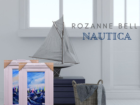 Nautical vibes in the studio and Rozanne Bell.