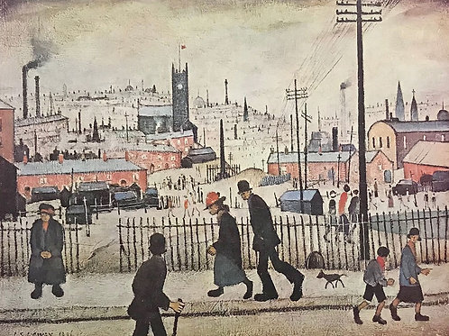 """L.S.Lowry RBA RA -""""View of a town """"Signed limited edition"""