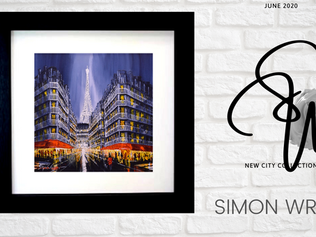 Deconstructed buildings and gloss paint are Simon's trademark