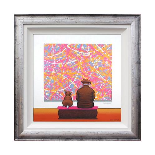 "Chris Chapman ""Pillock...we do not like pink""- Original painting."