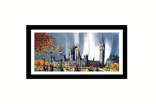 Simon Wright -London Gathering Storm Westminster. - Original painting
