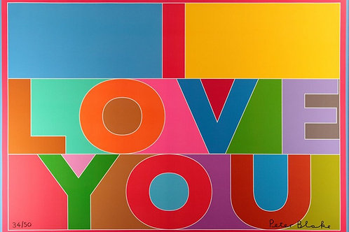 PETER BLAKE - I LOVE YOU - Limited Edition Fine Art