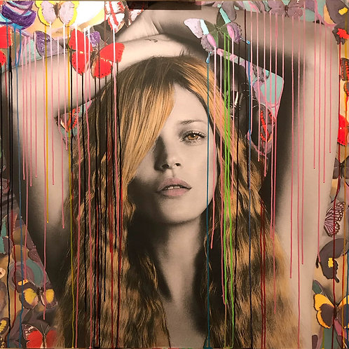 CHLOE ROX - The beauty within Kate Moss - Original Fine Art