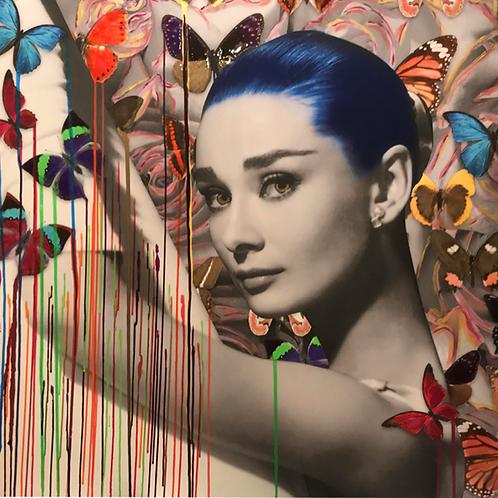 CHLOE ROX - The beauty within Audrey Hepburn - Original Fine Art