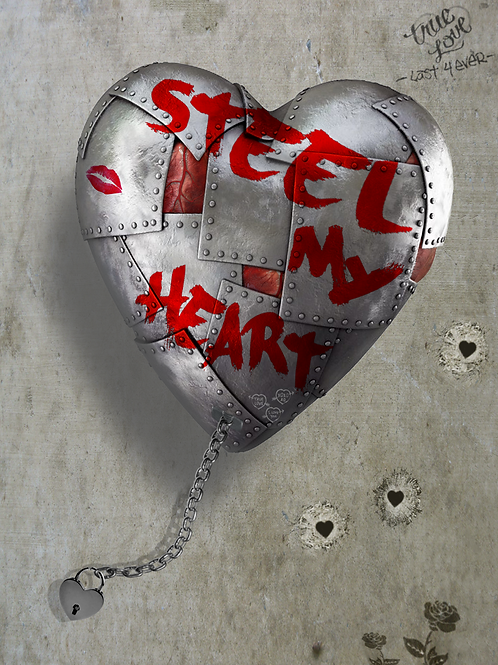 DIRTY HANS - Steel my heart Limited Edition Fine Art on paper