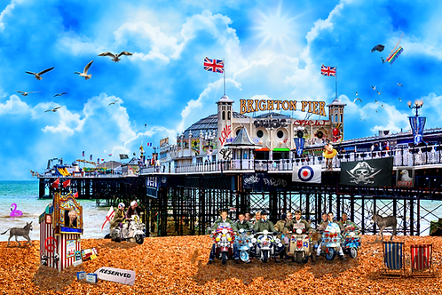 DIRTY HANS - POP GOES BRIGHTON Limited Edition Fine Art on paper