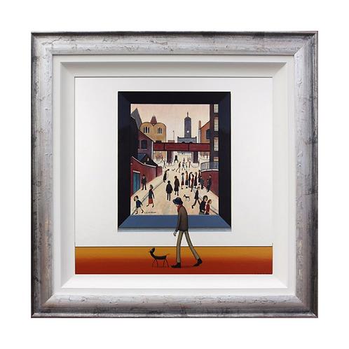 "Chris Chapman ""L.S.Lowryish"" Station Road - Original painting."