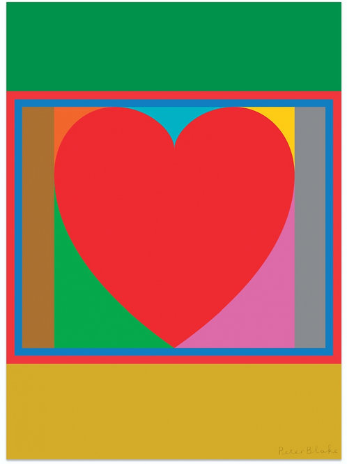 PETER BLAKE - Heart - Limited Edition Fine Art