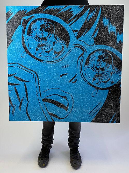 "Rich Simmons- ""Reflections Blue Diamond dust""Original spray can o"