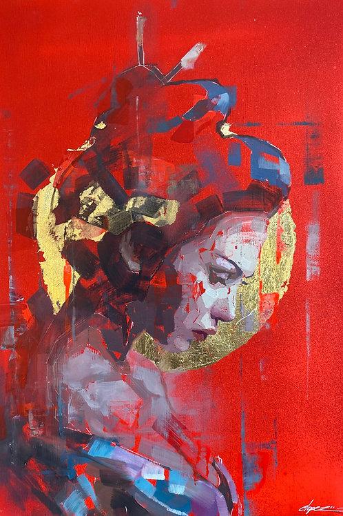 "Conrado Lopez -""Shinto Preist""  Original"