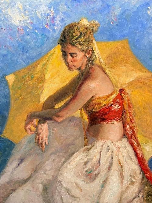 Royo  Azul & Oro  Original painting.