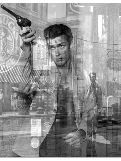 DIRTY HANS - Reflections Clint Eastwood Limited Edition Fine Art