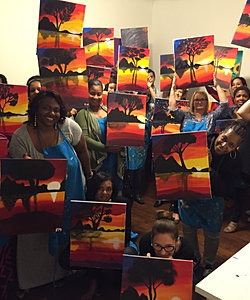 paint and sip in los angeles paint and wine class in los