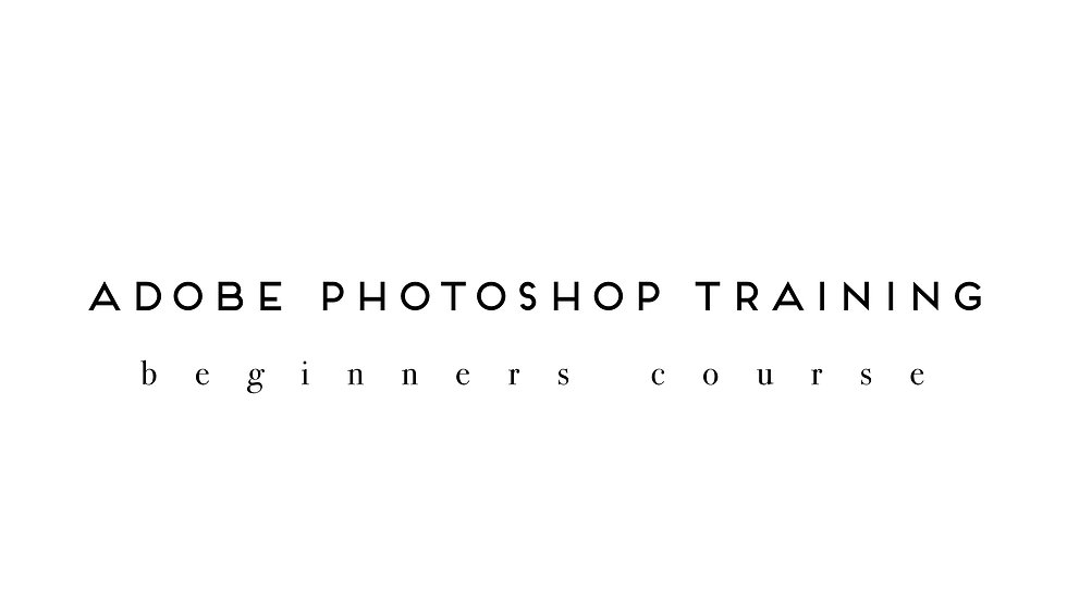 Photoshop Training Beginner Course