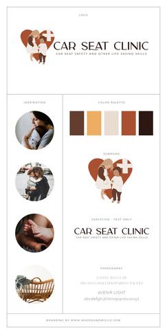 Car Seat Clinic Brand Board