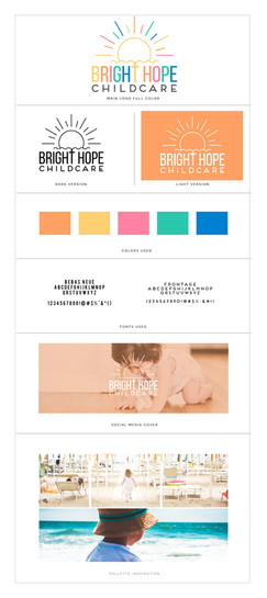 Bright Hope Childcare Brandboard