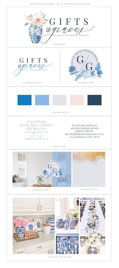 Gifts & Graces Brand Board