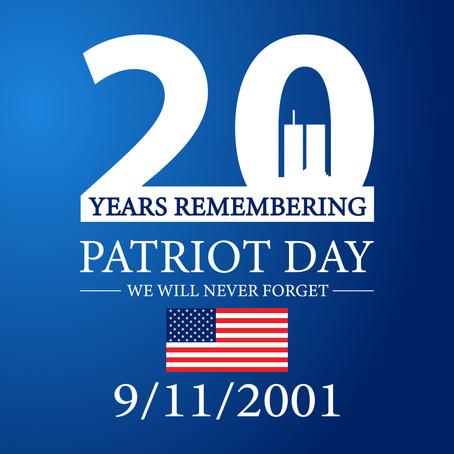 September 11, 2021 – Twenty Years Later