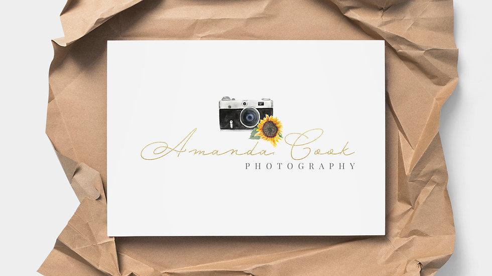 Sunflower Photographer Logo