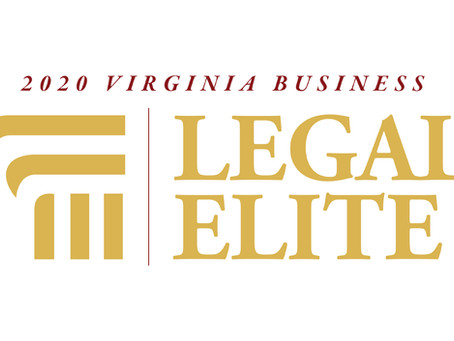 """Virginia Business Magazine 2020 """"Legal Elite"""" Selection in Appellate Law"""